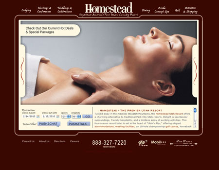 Homestead Resort website