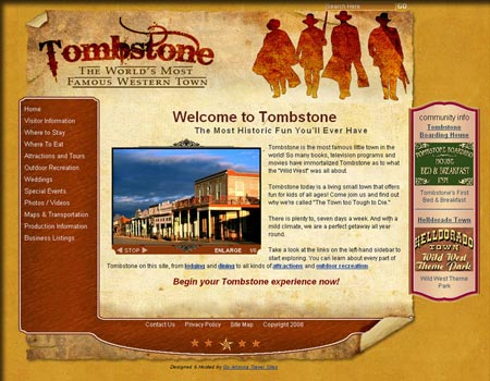 Tombstone Arizona website
