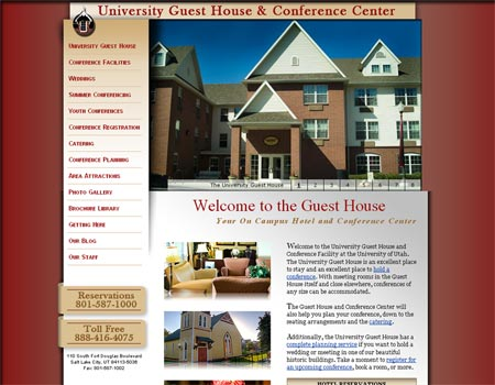 University Guesthouse website