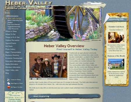 Heber Valley website