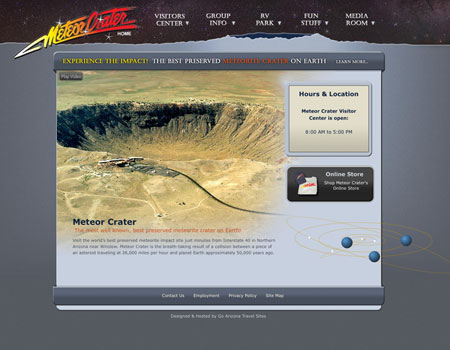 Meteor Crater website