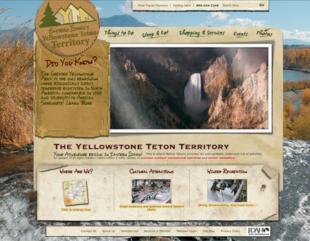 Yellowstone Teton Territory website